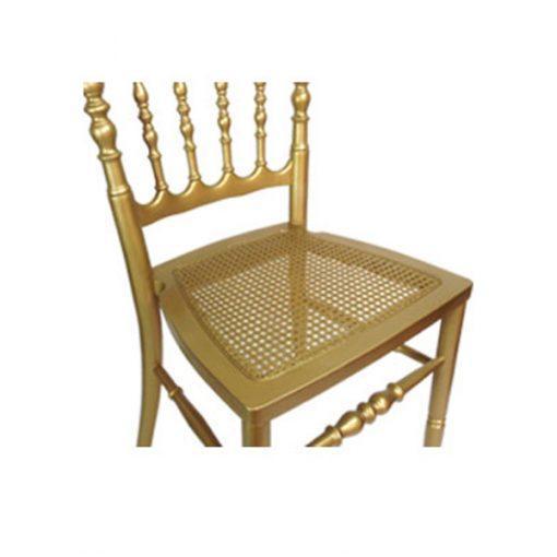 aluguer cadeira dourada assento palhinha