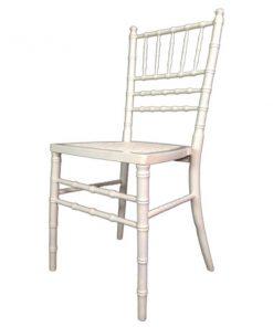 Aluguer de cadeiras brancas marfim