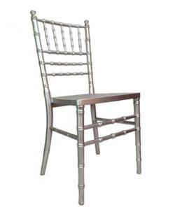 aluguer cadeira prata assento palhinha
