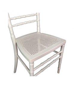 cadeira marfim assento palhinha