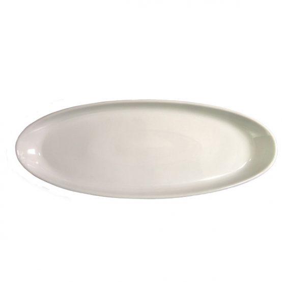 travessa em porcelana branca