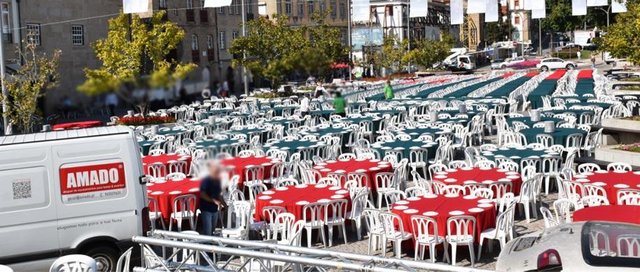 Aluguer de mesas e cadeiras para eventos