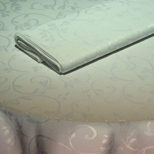 toalha de mesa branca arabesco