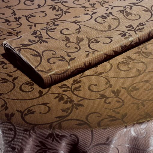 toalha de mesa castanha arabesco