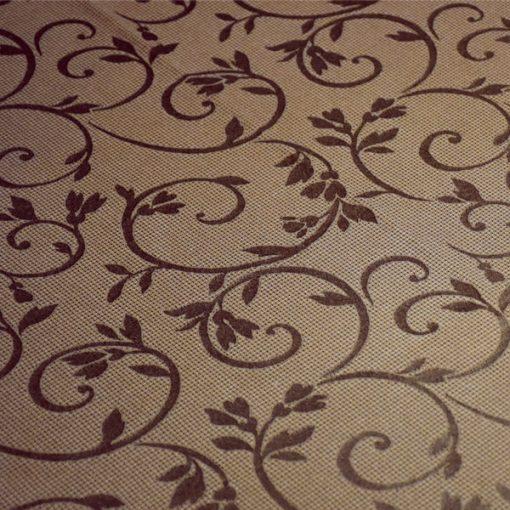 toalha de mesa castanha arabesco detalhe