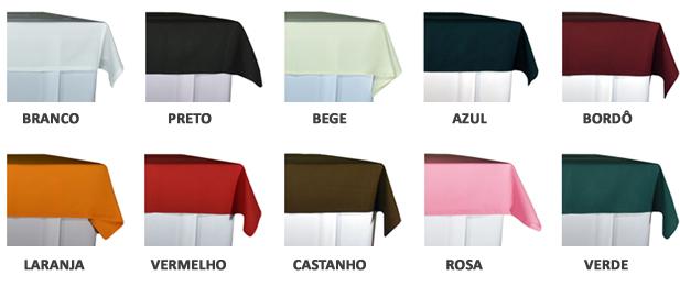 aluguer de toalhas mesa retangulares