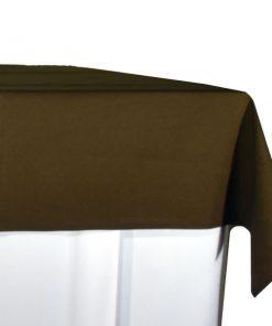 aluguer de toalha de buffet castanha