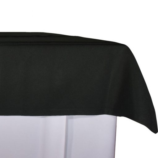 aluguer de toalha de buffet preta