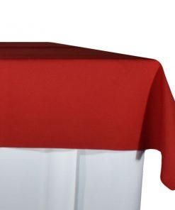 aluguer de toalha de buffet vermelha