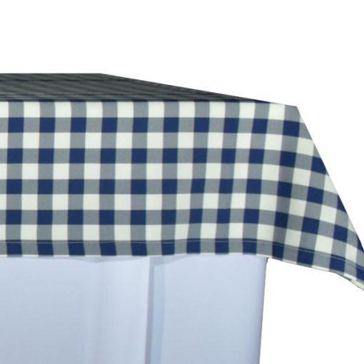 aluguer de toalha de buffet xadrez azul
