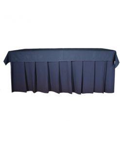 aluguet de toalha de buffet azul