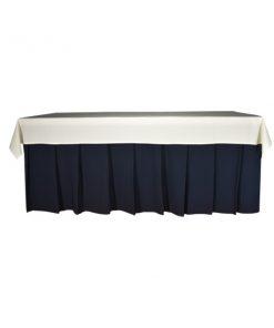 toalha de buffet branca
