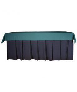 aluguet de toalha retangular verde