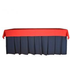 aluguer de toalha retangular vermelha
