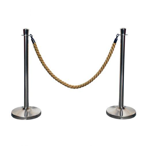 aluguer de baias para separação em cromado com cordão dourado