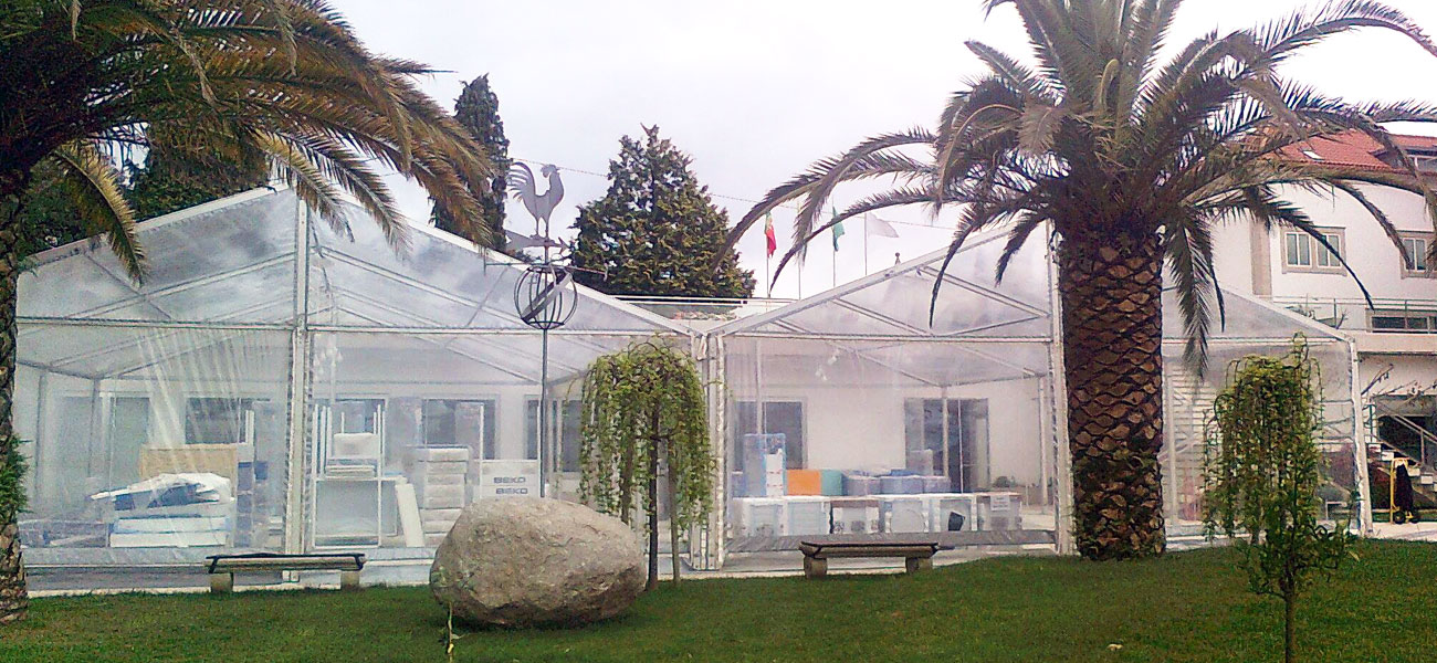 aluguer de tendas cristal