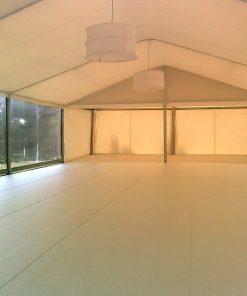 aluguer iluminação para tendas abat jour branco