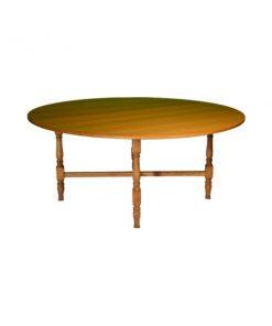 aluguer de mesa de madeira redonda