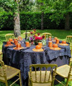 Almoço em jardim