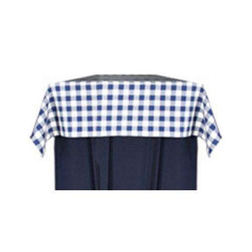 aluguer de toalha quadrada xadrez azul e branca